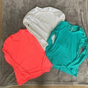 3 long sleeve danskin long sleeve shirts